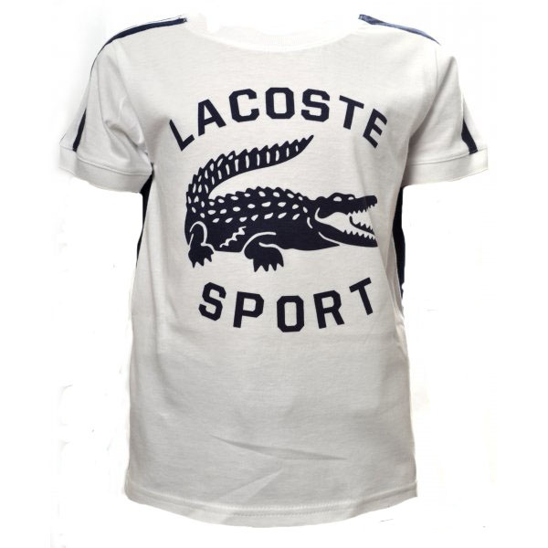 kids lacoste navy and white printed t shirt. Black Bedroom Furniture Sets. Home Design Ideas