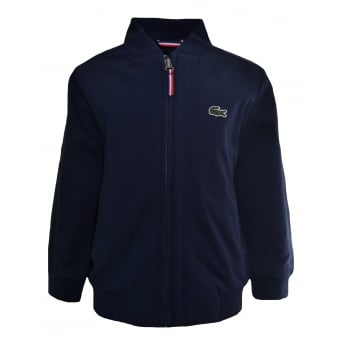 Lacoste Kids Navy Blue Harrington