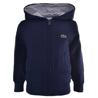 Lacoste Kids Navy Blue Hooded Sweatshirt
