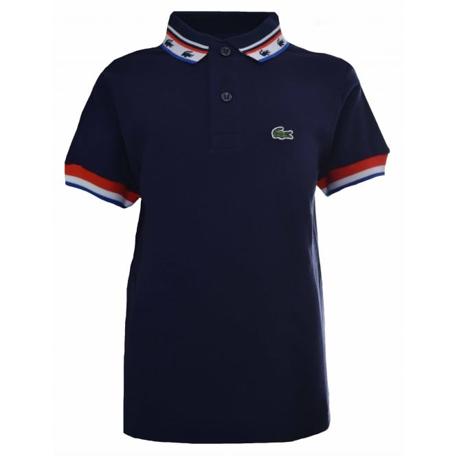 Lacoste Kids Navy Blue Polo Shirt