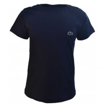 Lacoste Kids Navy Blue Short Sleeve Crew Neck T-Shirt