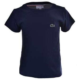 Lacoste Kids Navy Blue T-Shirt