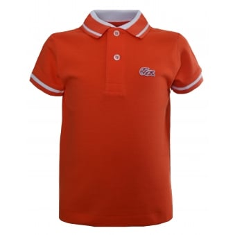 Lacoste Kids Orange Polo Shirt