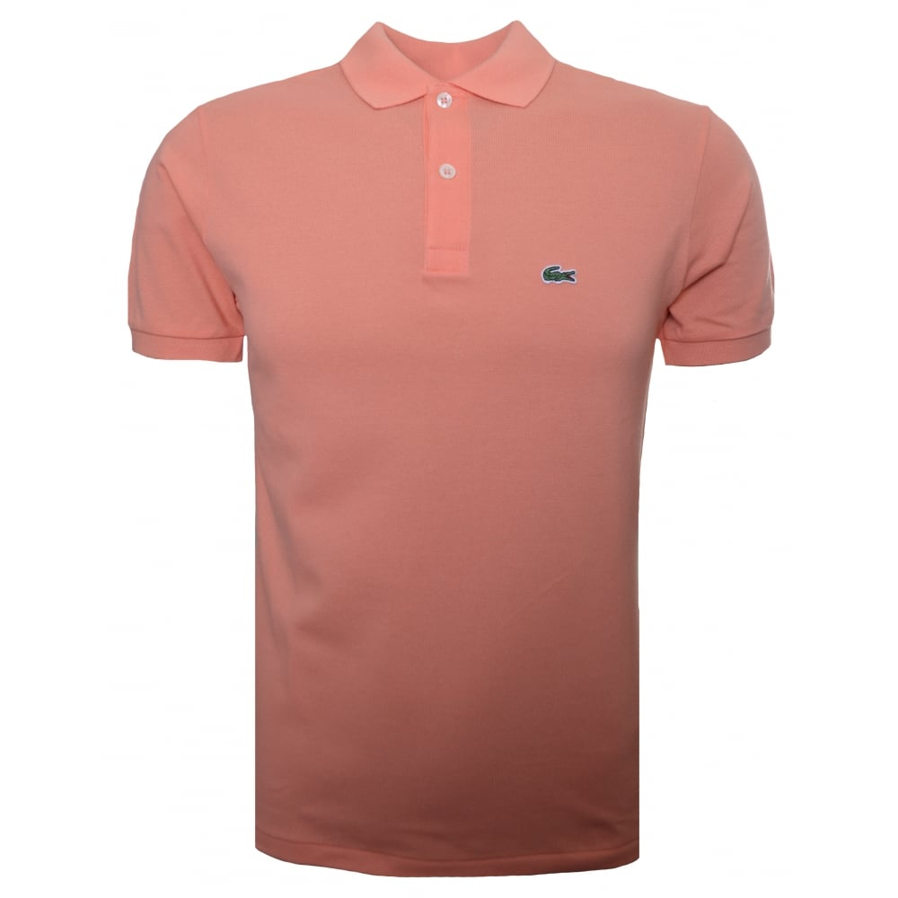 lacoste boys orange t shirt