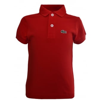 Lacoste Kids Red Polo Shirt