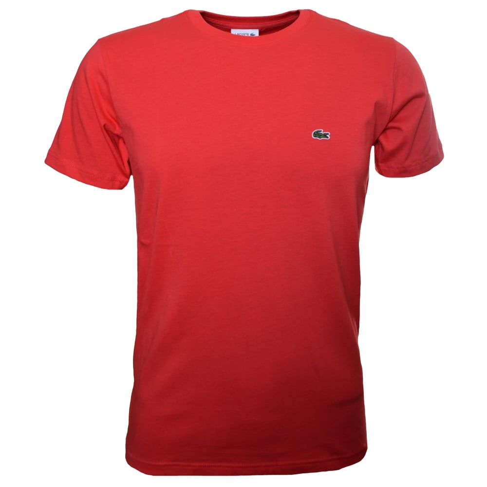 a1042d981bf6 lacoste kids RED short sleeve crew neck t-shirt