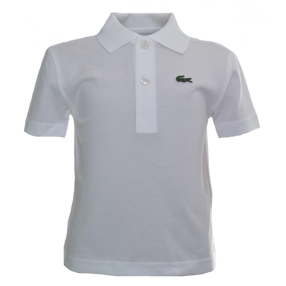 400d86efc3087 Lacoste Kids White Polo Shirt