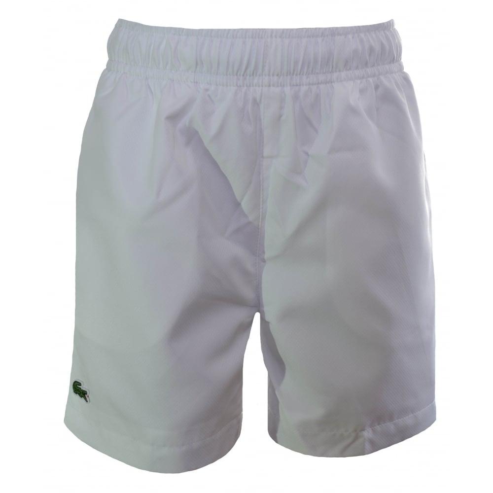 0b17190145 lacoste kids white swim shorts