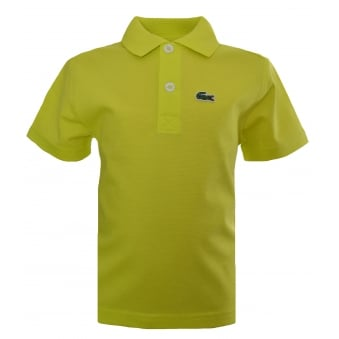 Lacoste Kids Yellow Polo Shirt