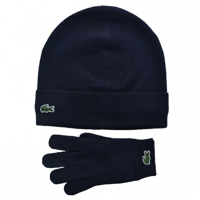 lacoste kids navy blue hat and gloves set 21af0a32939