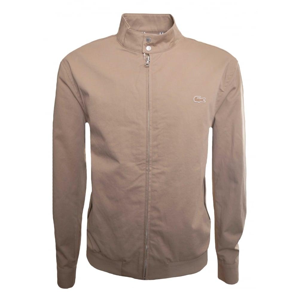 384d577d Lacoste Men's Lacoste Men's Beige Harrington Style Jacket