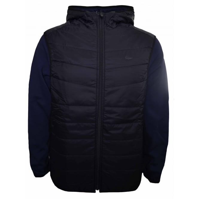 Lacoste Men's Black And Navy Blue Reversible Jacket