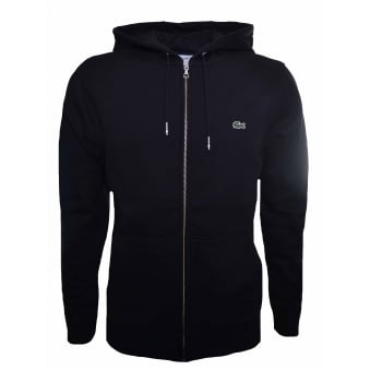 Lacoste Men's Black Hooded Sweatshirt