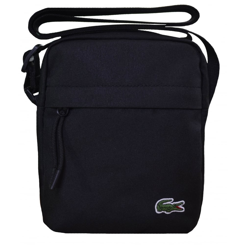 cd51678a Lacoste Men's Lacoste Men's Black Vertical Camera Bag