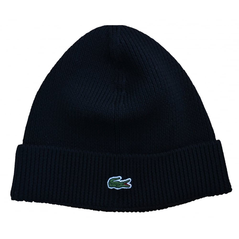 deda1be0efb7 lacoste men s black wool hat