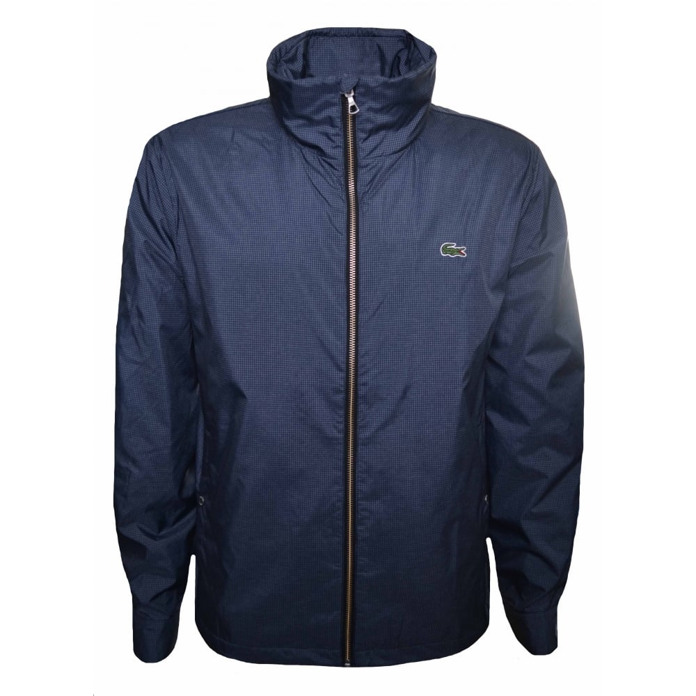 7917282a52d9 Lacoste Men  039 s Blue And Grey Herringbone Patterned Jacket