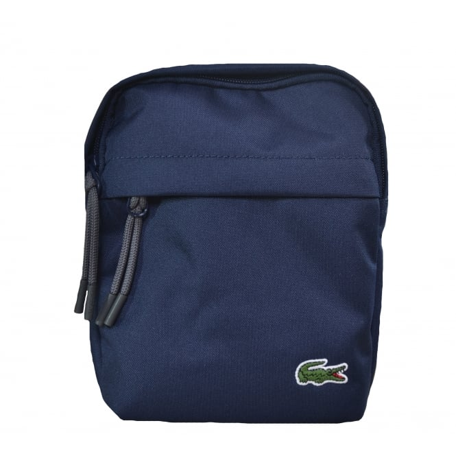 Lacoste Men's Blue Vertical Camera Bag