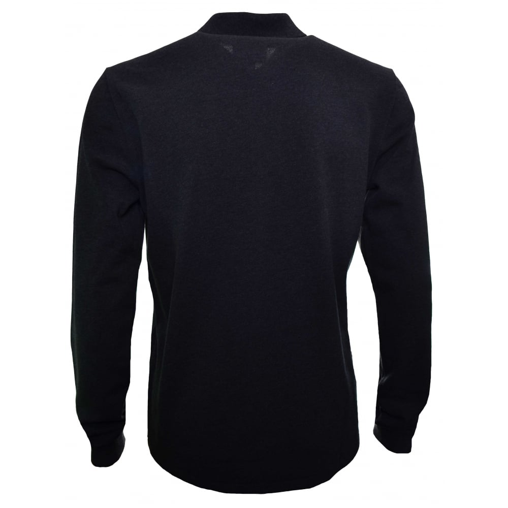 fc32a566c536 Lacoste Men  039 s Classic Fit Dark Grey Long Sleeved Polo Shirt