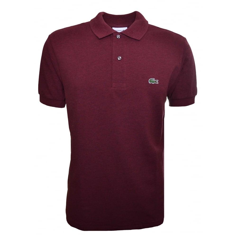 d8a8dc42a2 Lacoste Men's Lacoste Men's Classic Fit Dark Red Short Sleeve Polo Shirt