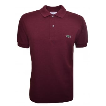 Lacoste Men's Classic Fit Dark Red Short Sleeve Polo Shirt