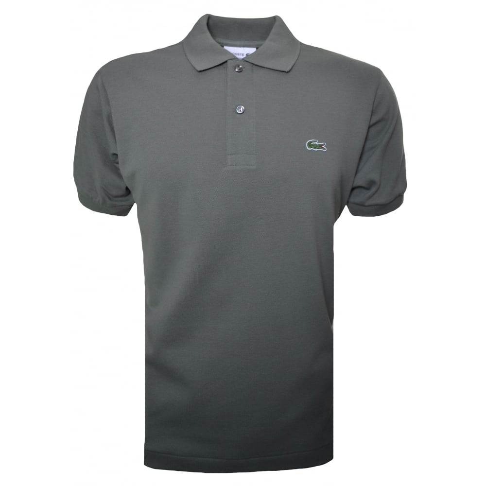 695025141f Lacoste Men  039 s Classic Fit Green Short Sleeve Polo Shirt