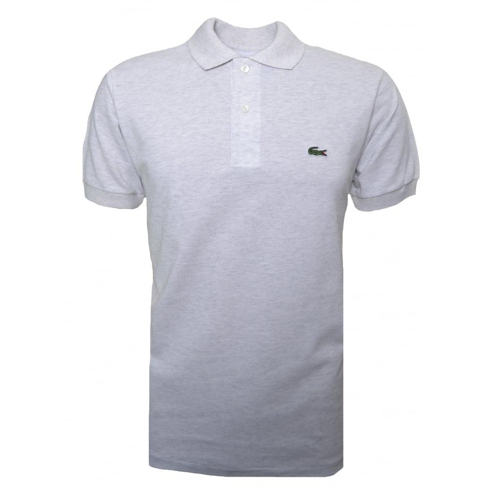 dc18db5a52 Lacoste Men's Lacoste Men's Classic Fit Grey Malange Short Sleeve Polo Shirt
