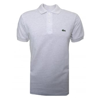 Lacoste Men's Classic Fit Grey Malange Short Sleeve Polo Shirt