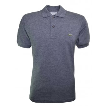 Lacoste Men's Classic Fit Grey Marl Short Sleeve Polo Shirt