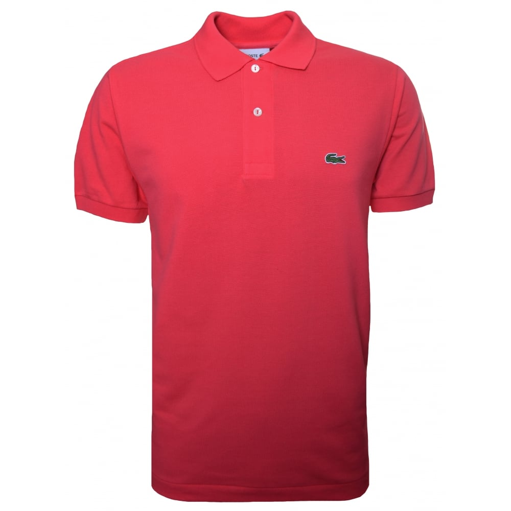 Lacoste Men  039 s Classic Fit Pink Short Sleeve Polo Shirt ec8c3314ac