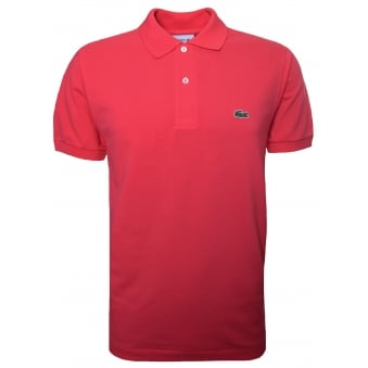 Lacoste Men's Classic Fit Pink Short Sleeve Polo Shirt