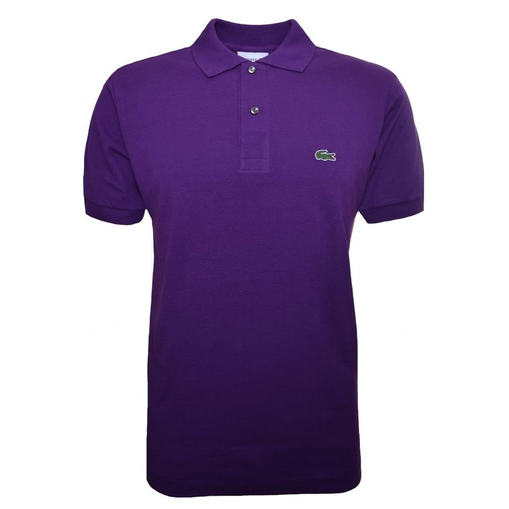 men 39 s lacoste purple polo shirt