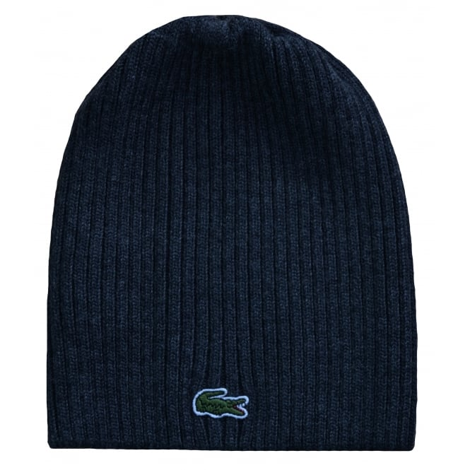 125173bba887 lacoste men s dark grey wool hat