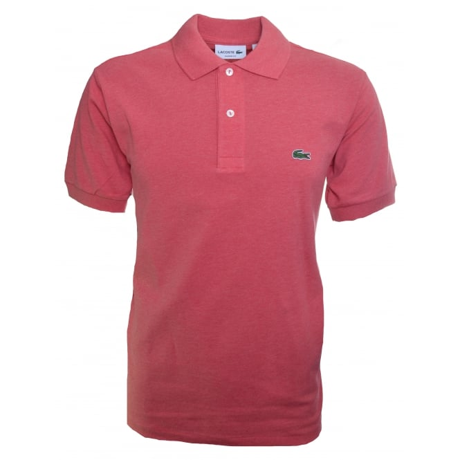 Lacoste Men's Dark Pink Short Sleeve Polo Shirt