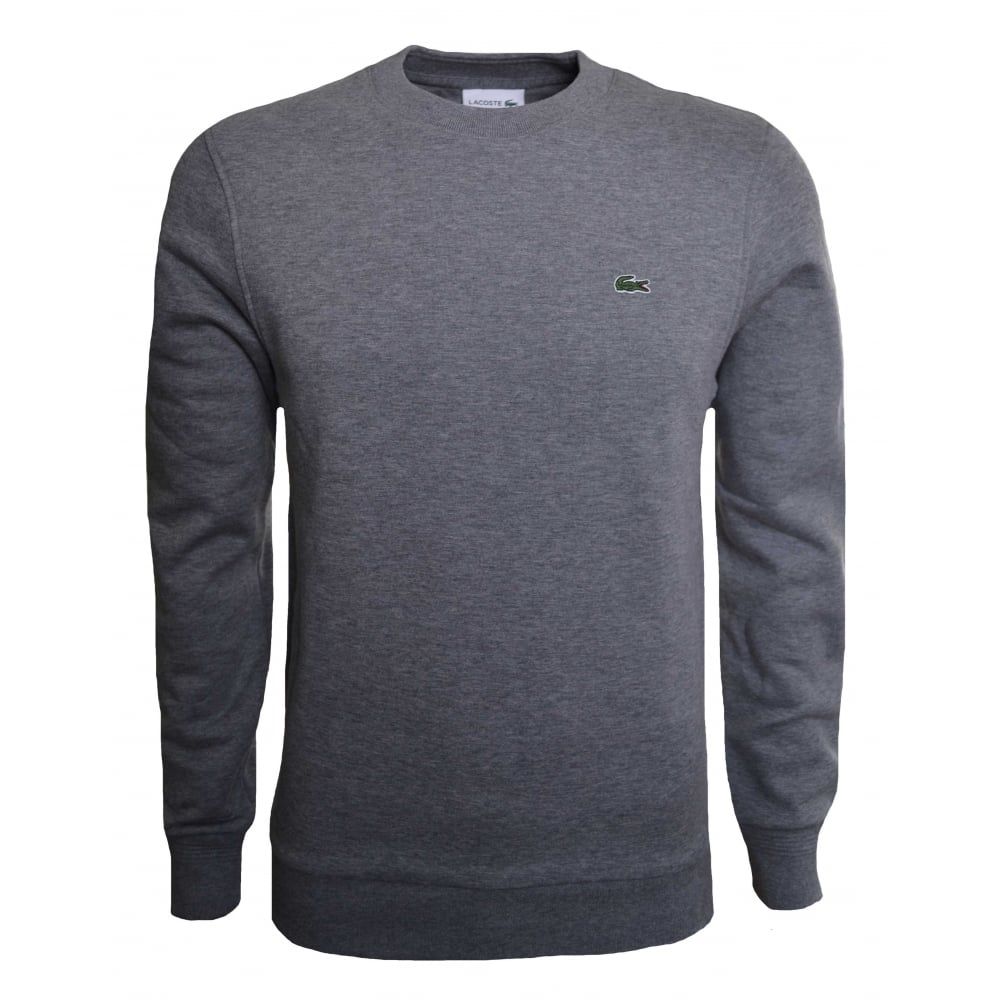 3b6e4721793f Lacoste Men  039 s Grey Marl Sweatshirt