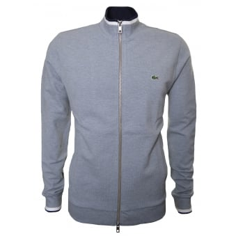 Lacoste Men's Grey Zip Through Sweatshirt