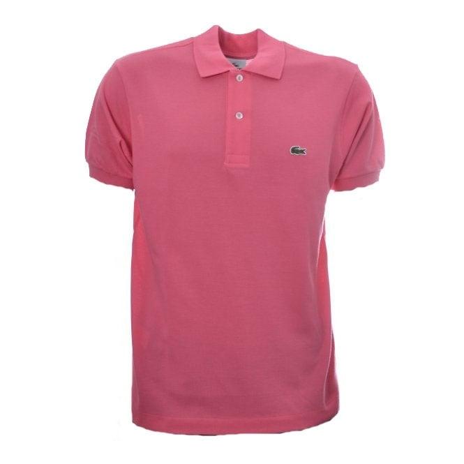 89ae03482e5 Men's Lacoste Gourmandise Pink Polo T-Shirt