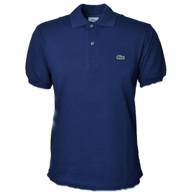 755a0528c32 Lacoste Mens Marine Blue Short Sleeve Polo Shirt