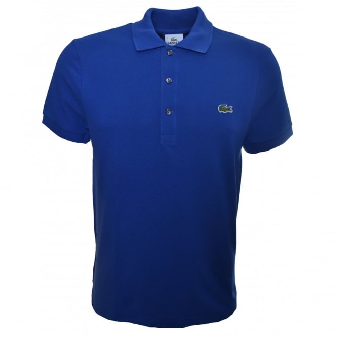 d747bd55e5512 Men  039 s Lacoste Blue Slim Fit Polo Shirt