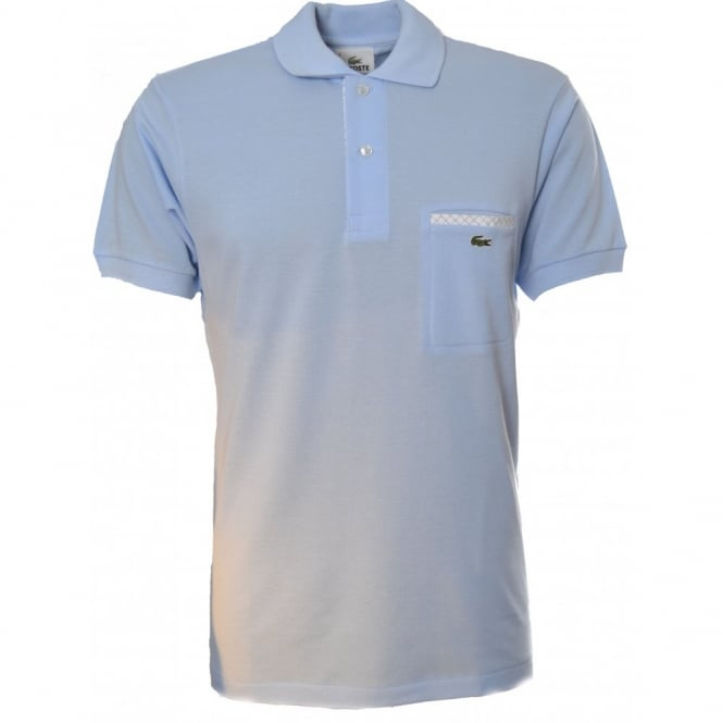 0b6cfbbf2562 Lacoste Mens Mineral Blue Pocket Detail Polo T-shirt