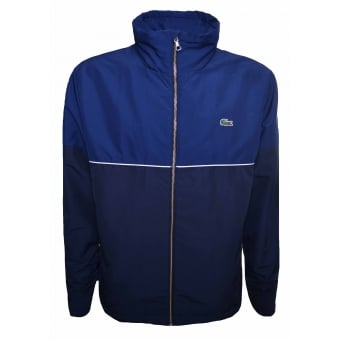 Lacoste Men's Navy And Blue Zippered Jacket