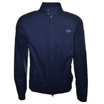Lacoste Men's Navy Blue Harrington Jacket