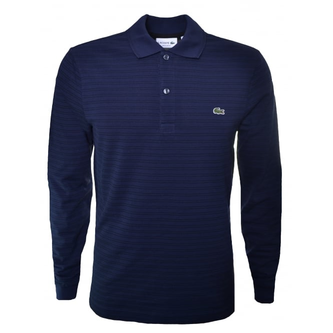 Lacoste Men's Navy Blue Long Sleeve Polo Shirt
