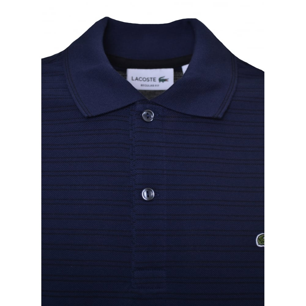 39e9a1c51e3a Lacoste Men  039 s Navy Blue Long Sleeve Polo Shirt
