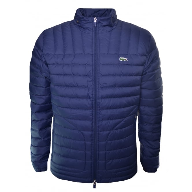 Lacoste Men S Navy Blue Padded Jacket