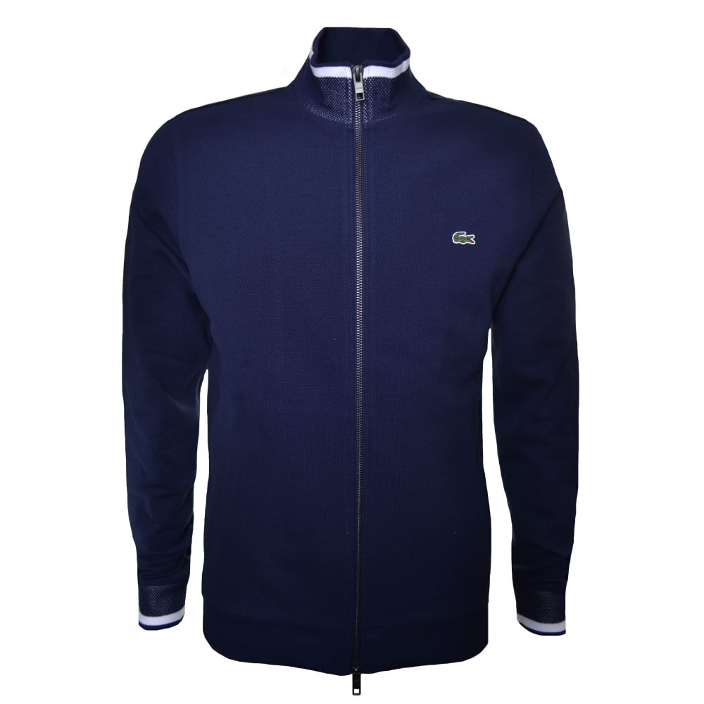 79fb919211a9 Lacoste Men  039 s Navy Blue Zip Through Sweatshirt