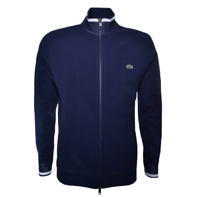 Lacoste Men's Navy Blue Zip Through Sweatshirt