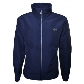 Lacoste Men's Navy Blue Zippered Jacket