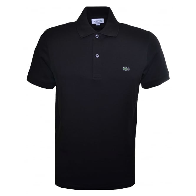Lacoste Mens Regular Fit Black Polo Shirt