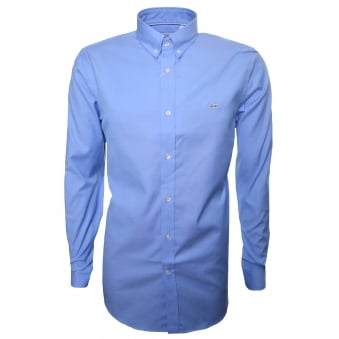 Lacoste Men's Regular Fit Blue Long Sleeve Shirt