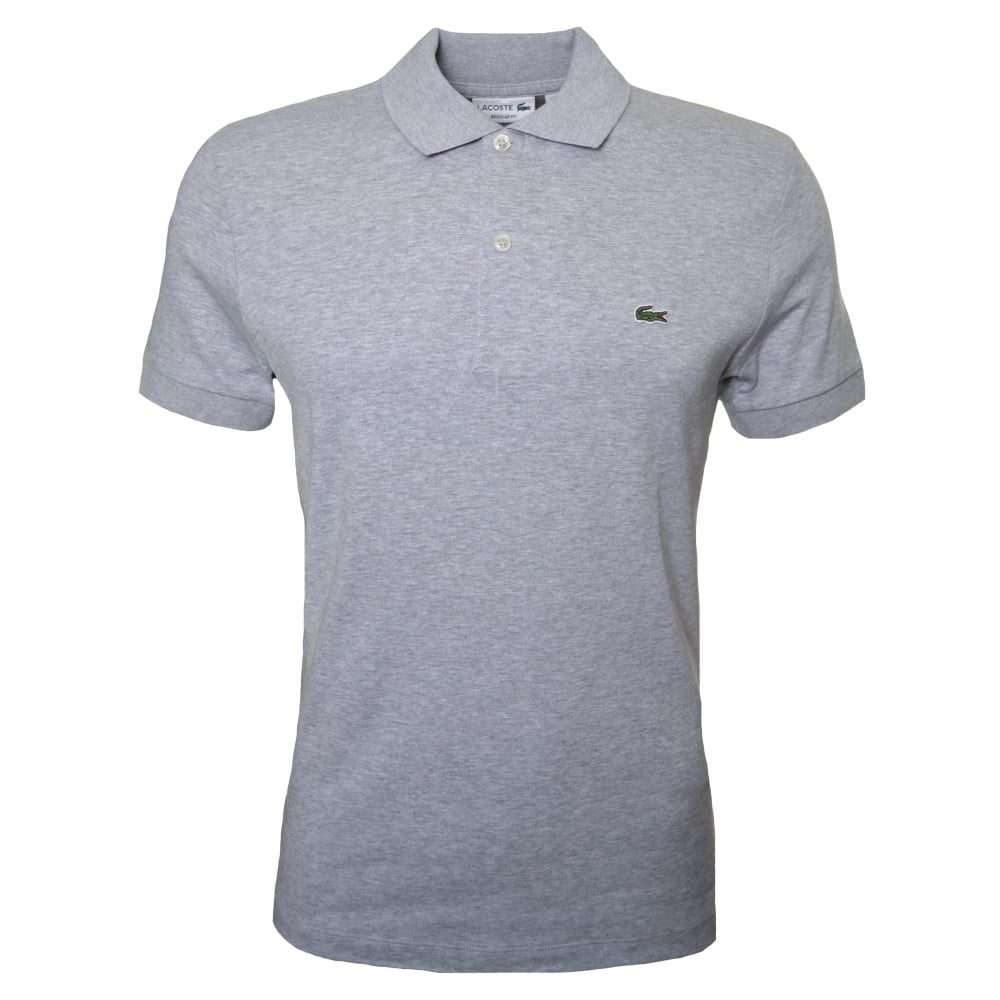 e5c7de09 Lacoste Mens Regular Fit Grey Polo Shirt